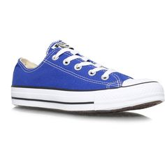 Converse Ct Low Seas Flats ($70) ❤ liked on Polyvore featuring shoes, sneakers, converse, sapatos, blue, blue sneakers, low tops, low top sneakers, converse shoes and blue shoes