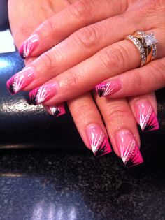 Solar pink and pink with hand designs
