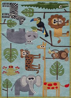 Kids Rug by Momeni - Lil Mo Whimsy19BLU - NW Rugs