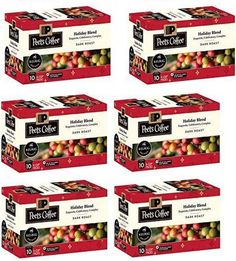 Peet's Coffee LIMITED EDITION HOLIDAY BLEND K-Cups 60 COUNT #KeurigGreenMountain