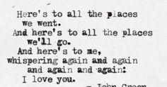 Quotes About Love John Green