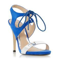 Head Over Heels Ladies MATAVA - Ghillie Lace Up High Heel Sandals - blue | Dune Shoes Online