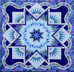 Glacier Star, Quiltworx.com, Made by CS Mt. Pleasant Quilting Company  Click here to find their Certified Shop page: http://www.quiltworx.co...