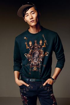 Dolce  Gabbana Fall/Winter 2014 Mens Look Book image Dolce and Gabbana Fall Winter 2014 Men Look Book Model Images 094