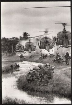Dough Van Phouc, U.S. helicopters drop-off in the Mekong Delta, Saigon, South Vietnam August 1967
