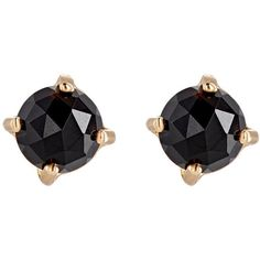 Irene Neuwirth Women's Circular Stud Earrings ($860) ❤ liked on Polyvore featuring jewelry, earrings, ear rings, no color, 18 karat gold earrings, round stud earrings, earring jewelry, stud earrings and 18k earrings