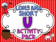 This is a colorful page packet (with over 50 pages) of activities for your little ones to practice reading, identifying, and writing words with long and short U in them!