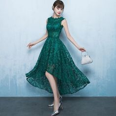 c675b34ff423d グリーン レース フィッシュテール ドレス 商品番号DT0009