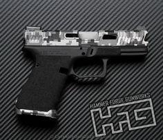 Smaller version of the 1st project picture. Graphite Black H-146Q, Glock, Glock 19, Pistol, Stippled, Urban Camo, Digital Camo, Titanium H-170Q, Tungsten H-237Q, Digicam, Loki Tactical