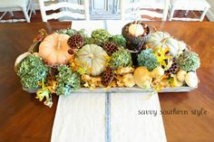 Love all of creations from Savvy Southern Style: Thanksgiving Centerpiece Ideas