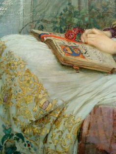 St Cecilia (detail), John William Waterhouse. English Pre-Raphaelite Painter (1849 - 1917)