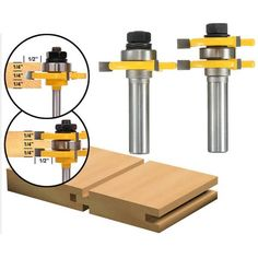 2pcs 1/2 Inch Shank Tongue & Groove Router Bit Set 3 Teeth T-shape Wood Milling Cutter  Worldwide delivery. Original best quality product for 70% of it's real price. Buying this product is extra profitable, because we have good production source. 1 day products dispatch from...