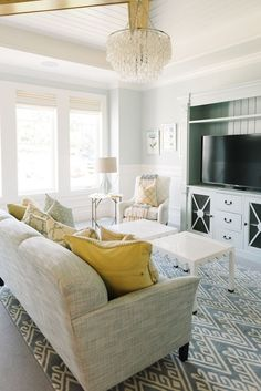 *Living Room: Cool Breeze CSP-665 Benjamin Moore  House of Turquoise: Dream Home Tour - Day Two: