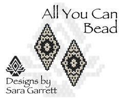 Peyote Earrings Pattern 180 Bead Weaving INSTANT DOWNLOAD PDF Odd Count by AllYouCanBead on Etsy