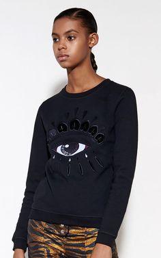 195 Eye Sweatshirt, BLACK, KENZO