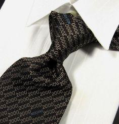 b66620158feaad Mens Vintage Silk Necktie 90s Red Print Tie Made in Italy