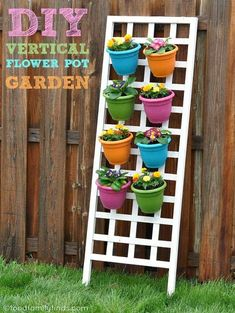 DIY vertical flower pot garden