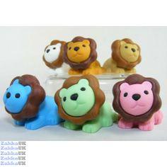japanese erasers | ... Colours Safari Animals Lion King Japanese Erasers in Wholesale Box