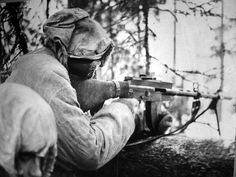 Finnish soldier during the Winter War, 1940