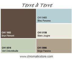Une association de bruns et de tons neutres pour une atmosphère industrielle un peu rustique idéale pour un salon. www.chromaticstore.com #deco #peinture #style