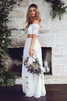 she choose white for her wedding dress, isn't she a beautiful bride