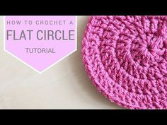 CROCHET: How to crochet a flat circle | Bella Coco - YouTube