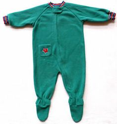 Boys Size 18m L.L. Bean Cozy Fleece Footie Pajamas, One Piece, Grip on Feet. $8.99