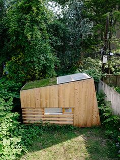 """archatlas:  """"  Brooklyn Garden Studio Hunt Architecture  From the architects:  The Brooklyn Garden Studio is a self-built retreat located in the garden of a Boerum Hill Townhouse in Brooklyn, New York. The project is an escape from the city, both the..."""