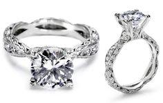 Tacori Unique Ribbon-twist Engagement Ring