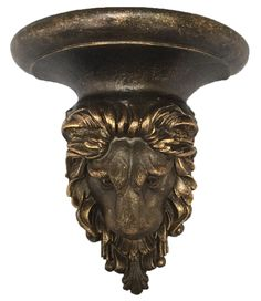 Sir Oliver's by Reilly-Chance Collection offers this Majestic Lion shelf in Bronze