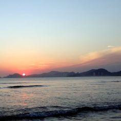 Chegar na praia a tempo de pegar um espetáculo desse …?...