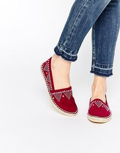 Buy ASOS JESSY Studded Espadrilles at ASOS. Get the latest trends with ASOS now. Pretty Shoes, Beautiful Shoes, Cute Shoes, Me Too Shoes, Sock Shoes, Shoe Boots, Shoes Sandals, Shoes Sneakers, Only Shoes