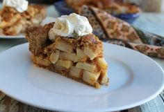 Thanksgiving- paleo apple pie with coconut whipped cream. Gluten free -  can make dairy free too