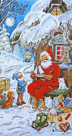 Santa and elf advent calendar ~ Germany