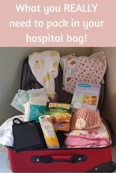 There are so many lists on what you should or shouldn't be packing for the hospital when baby comes. Here is our list on what you REALLY need!  #PackingForHospital #HospitalBag #Baby #Pregnancy