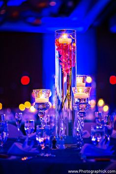 blue and pink floral arrangements - Google Search For Dancing for Little Stars 2014