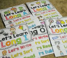 Long Vowel activities interactive flip books- reading, writing, sorting, and more activities to help learn long vowels