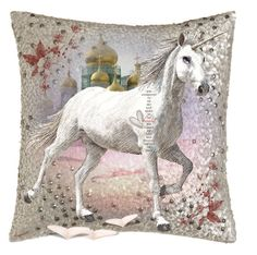 """Pillow Designer Contest😀🦋"" by ragnh-mjos ❤ liked on Polyvore featuring art, pillow, Horse and artset"
