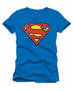 Superman Retro Logo T-Shirt | Superhelden T-Shirt im Retro Look | horror-shop.com  #Superman #Superhero