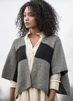 On the go or cozy at home, the Janesville Jacket is one size fits most. Knit in Woolstok; 100% Highland Peruvian Wool, with an interesting seed stitch and 21 color options, you will want more than one. Pattern No. 20172