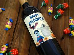 Custom Wine Label Halloween Hallowine Personalized Wine Bottle
