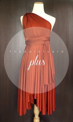 Plus Size Burnt Orange Bridesmaid Prom Wedding by thedaintyard