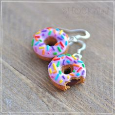 donuts clay earrings