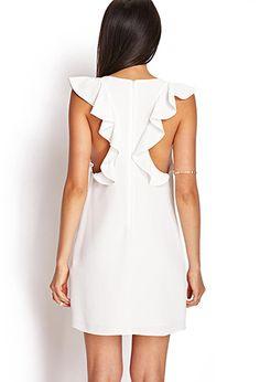 Pretty ruffle white dress