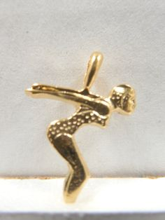 Gold Plated Lady Swimmer Charms/Pendants  Ladies by Beadgarden55
