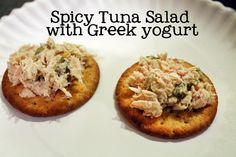 Cute As a Fox: Spicy Tuna Salad with Greek yogurt taste test comparison