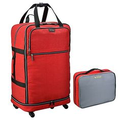 Biaggi ZipSak™ 27-Inch Foldable Spinner Duffle in Red