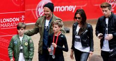 David Beckham and his family were spotted cheering on Romeo Beckham as he completed the junior marathon on Sunday morning. The event takes place before the annual London marathon, and Romeo was among. David Y Victoria Beckham, Marathon Photo, The Beckham Family, Harper Beckham, Brooklyn Beckham, London Marathon, Working Mums, Marathon Runners, Queen Victoria