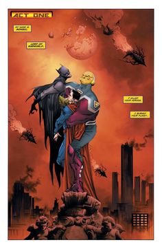 Batman & Superman vs Mongul by Jae Lee