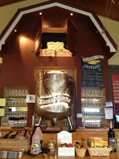 Rumspringa (sp?) brewery upstairs is beer and downstairs is wine..had an awesome bbq turkey sandwich with coleslaw and chips for lunch and a brewskie of course  Lancaster, PA